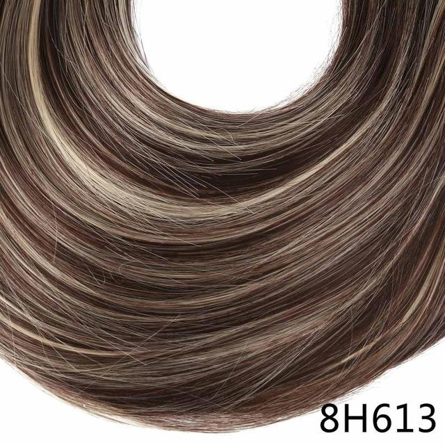 "Sarla Long Straight 24""& 28"" Synthetic Wrap Around Ponytail Hair Extensions High Temperature Fiber-SARLA Official Store-8H613-24inches-EpicWorldStore.com"