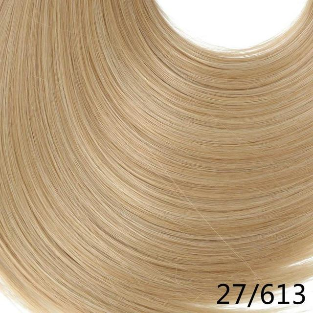 "Sarla Long Straight 24""& 28"" Synthetic Wrap Around Ponytail Hair Extensions High Temperature Fiber-SARLA Official Store-California Blonde-24inches-EpicWorldStore.com"