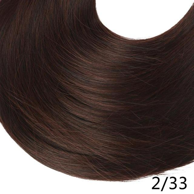 "Sarla Long Straight 24""& 28"" Synthetic Wrap Around Ponytail Hair Extensions High Temperature Fiber-SARLA Official Store-Dark Chocolate-24inches-EpicWorldStore.com"