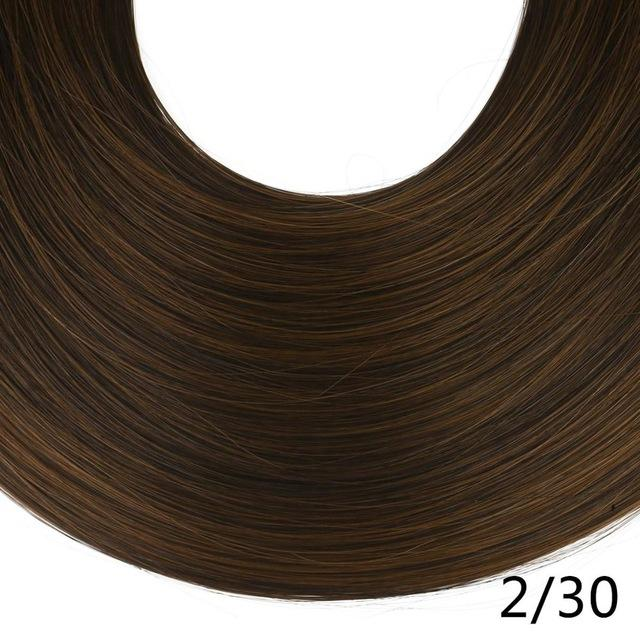 "Sarla Long Straight 24""& 28"" Synthetic Wrap Around Ponytail Hair Extensions High Temperature Fiber-SARLA Official Store-Ginger Brown-24inches-EpicWorldStore.com"