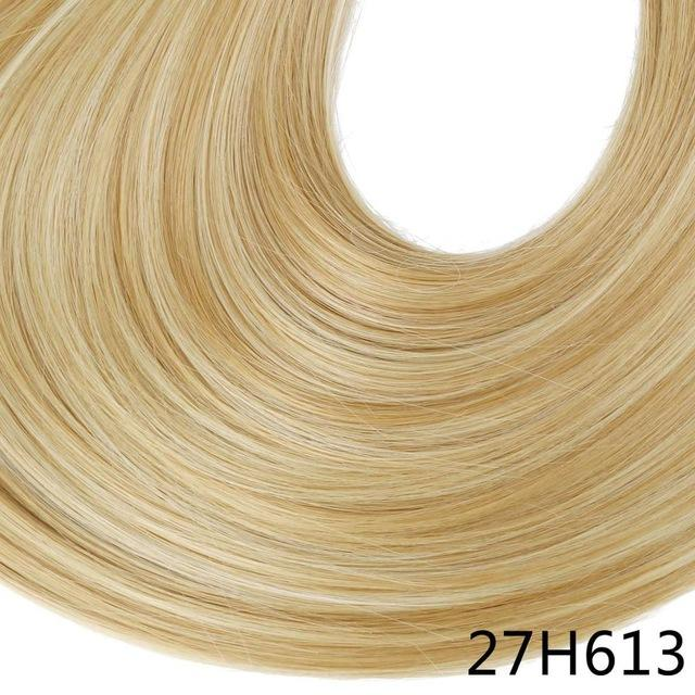 "Sarla Long Straight 24""& 28"" Synthetic Wrap Around Ponytail Hair Extensions High Temperature Fiber-SARLA Official Store-Golden Blonde-24inches-EpicWorldStore.com"