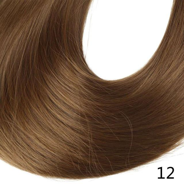 "Sarla Long Straight 24""& 28"" Synthetic Wrap Around Ponytail Hair Extensions High Temperature Fiber-SARLA Official Store-Light Golden Brown-24inches-EpicWorldStore.com"
