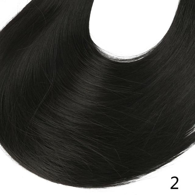 "Sarla Long Straight 24""& 28"" Synthetic Wrap Around Ponytail Hair Extensions High Temperature Fiber-SARLA Official Store-Natural Black-24inches-EpicWorldStore.com"