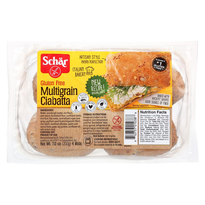 Schar Multigrain Ciabatta Rolls Gluten Free - Case Of 6 - 7 Oz.-Eco-Friendly Home & Grocery-Schar-EpicWorldStore.com