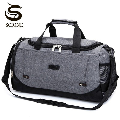 Scione Nylon Travel Bag Large Capacity Men Hand Luggage Travel Duffle Bags Nylon Weekend Bags-Travel Bags-SCIONE FASHION-Black-EpicWorldStore.com
