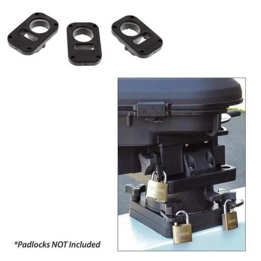 Scotty 3134 Downrigger Security System 3-Piece Locking Plates W-O Padlocks-Marine Products-Scotty-EpicWorldStore.com