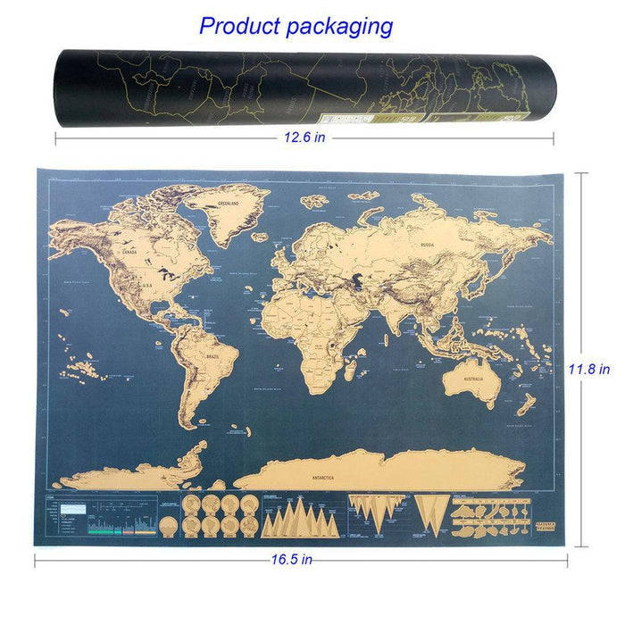 Scratch map of the world travel edition deluxe scratch off map scratch map of the world travel edition deluxe scratch off map personalized world map poster black gumiabroncs Gallery