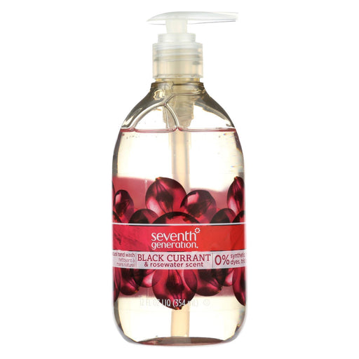 Seventh Generation Natural Hand Wash - Black Currant And Rosewater - Case Of 8 - 12 Fl Oz.-Eco-Friendly Home & Grocery-Seventh Generation-EpicWorldStore.com