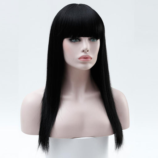 Shangke 22'' Long Hair Wigs For Women Synthetic Wigs For Women Heat Resistant False Hair Pieces-Shop2178032 Store-#1B-EpicWorldStore.com