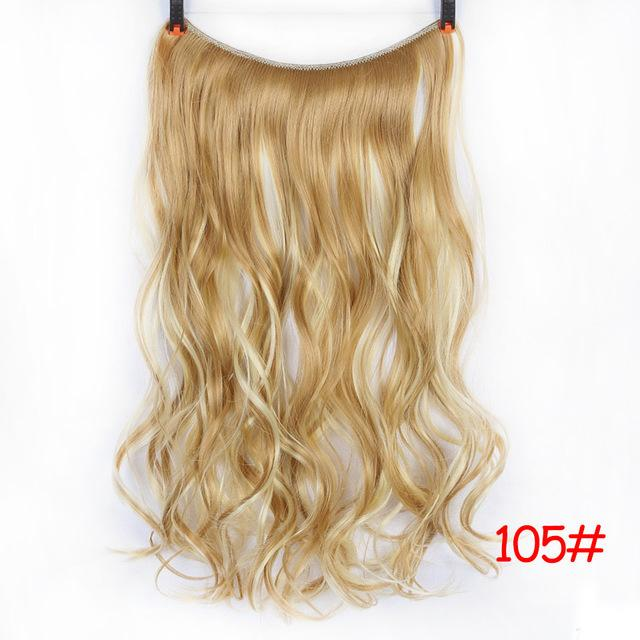 Shangke 24 Inches Invisible Wire No Clips In Hair Extensions Secret