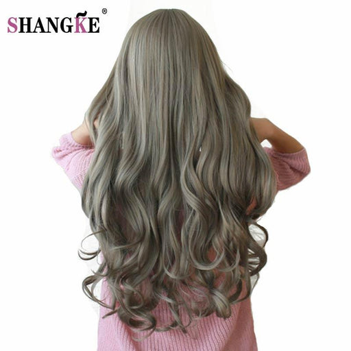 Shangke 26'' Long Wavy Colored Hair Wigs Heat Resistant Synthetic Wigs For White Women Natural-Shop2178032 Store-#4-EpicWorldStore.com