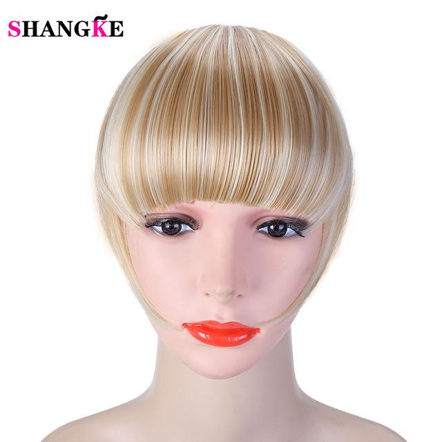 Shangke Fringe Clip In Hair Bangs Hairpiece Clip In Hair Extensions