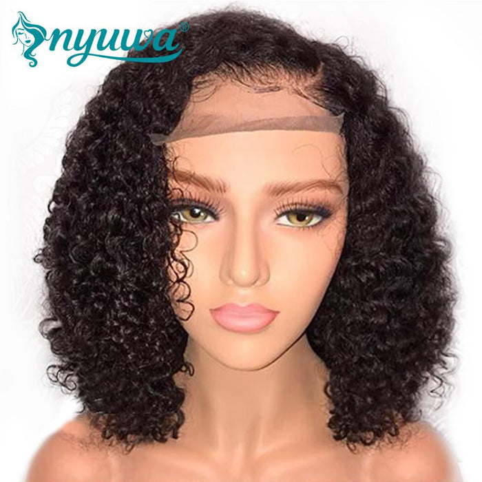 Short Full Lace Human Hair Wigs Pre Plucked