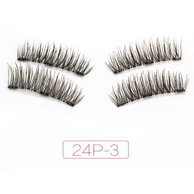 Shozy Magnetic Eyelashes With 3 Magnets Handmade 3D/6D Magnet Lashes Natural False Eyelashes-Beauty Essentials-Yiwu Shuozi Trade Co., Ltd.-24P-3-EpicWorldStore.com