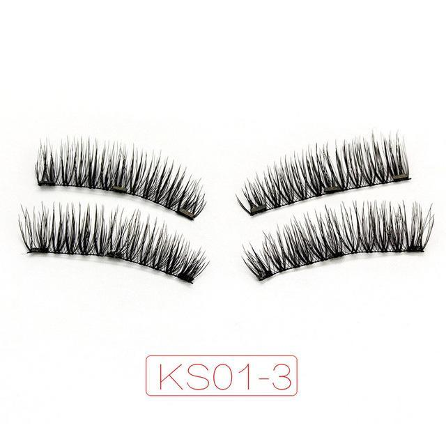 Shozy Magnetic Eyelashes With 3 Magnets Handmade 3D/6D Magnet Lashes Natural False Eyelashes-Beauty Essentials-Yiwu Shuozi Trade Co., Ltd.-KS01-3-EpicWorldStore.com