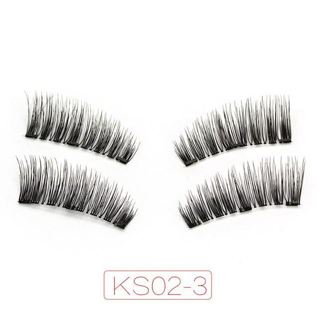 Shozy Magnetic Eyelashes With 3 Magnets Handmade 3D/6D Magnet Lashes Natural False Eyelashes-Beauty Essentials-Yiwu Shuozi Trade Co., Ltd.-KS02-3-EpicWorldStore.com
