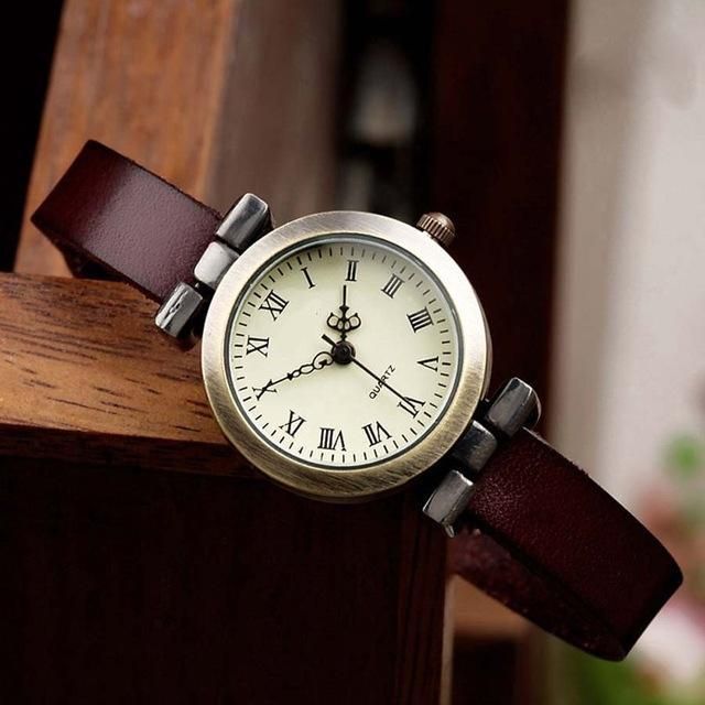 Shsby New Hot-Selling Leather Female Watch Roma Vintage Watch Women Dress Watches-Women's Watches-shsby watch Store-dark brown-EpicWorldStore.com