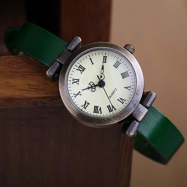 Shsby New Hot-Selling Leather Female Watch Roma Vintage Watch Women Dress Watches-Women's Watches-shsby watch Store-Green-EpicWorldStore.com