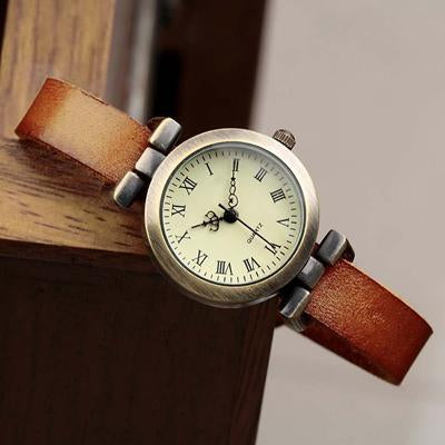 Shsby New Hot-Selling Leather Female Watch Roma Vintage Watch Women Dress Watches-Women's Watches-shsby watch Store-light brown-EpicWorldStore.com
