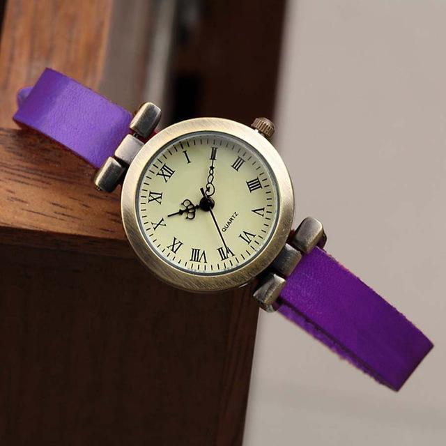 Shsby New Hot-Selling Leather Female Watch Roma Vintage Watch Women Dress Watches-Women's Watches-shsby watch Store-Purple-EpicWorldStore.com