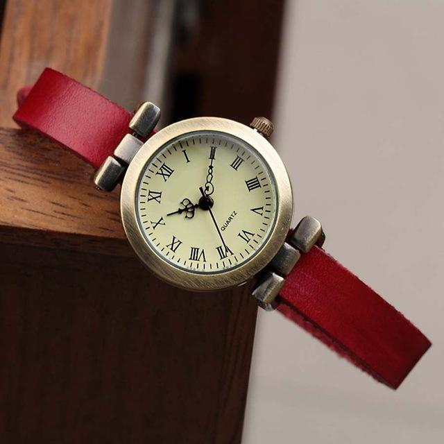 Shsby New Hot-Selling Leather Female Watch Roma Vintage Watch Women Dress Watches-Women's Watches-shsby watch Store-Red-EpicWorldStore.com