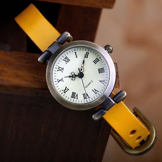 Shsby New Hot-Selling Leather Female Watch Roma Vintage Watch Women Dress Watches-Women's Watches-shsby watch Store-Yellow-EpicWorldStore.com