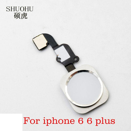 "Shuohu Brand 1 Pcs Home Button With Flex Cable For Iphone 6 4.7"" / 6Plus 5.5"" Black/White/Gold-Mobile Phone Parts-Fortress Store-white-EpicWorldStore.com"