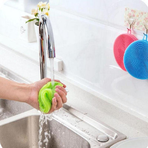 Silica Gel Wash Bowl Brushes Universal Brush Hot Multipurpose Antibacterial Silicone Smart Sponge-Household Cleaning-Hommy Store-orange-EpicWorldStore.com