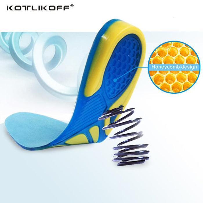 d6041fe6e1 Silicon Gel Insoles Foot Care For Plantar Fasciitis Heel Spur Running Sport Insoles  Shock Absorption-
