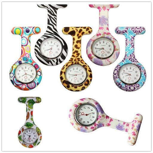 Silicone Stainless Round Dial Quartz Fob Woman Quartz Pocket Watch Nurse Watch Fob Hanging Medical-Pocket & Fob Watches-Vicky's Store-1-EpicWorldStore.com