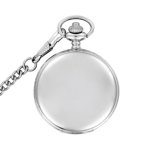 Silver/Bronze/Black/Gold Polish Smooth Quartz Pocket Watch Jewelry Alloy Chain Pendant-Pocket & Fob Watches-TTJIANG Store-silver-EpicWorldStore.com