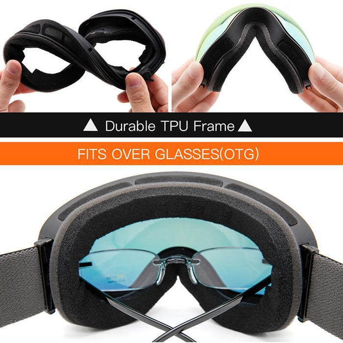 a712cda77ead85 Ski Goggles,Winter Snow Sports Snowboard Goggles With Anti-Fog Uv Protection  For Men