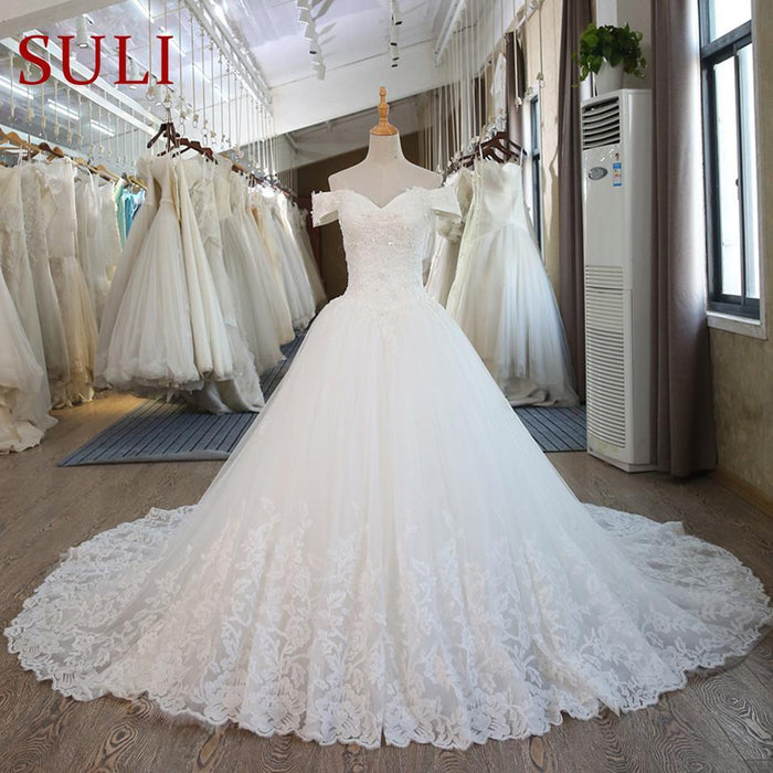 Sl-100 Real Pictures Ball Gown Bridal Dress Vintage Muslim Plus Size ...