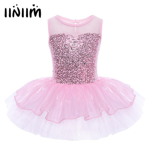 Sleeveless Ballerina Fairy Prom Party Costume Kids Girls Sequined Flower Dress Dancewear Gymnastic-Stage & Dance Wear-iiniim Fashionable Store-Blue-3-EpicWorldStore.com