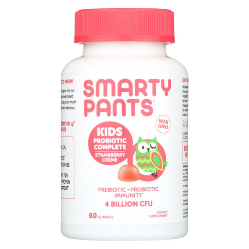 Smartypants Kids Probiotic - Straw Creme - 60 Count-Eco-Friendly Home & Grocery-Smartypants-EpicWorldStore.com