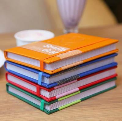 """Smiley"" Cute Notebook A6 Leather Diary School Notebook Paper 96 Sheets Color Pages Office School-Balabala Discount-Orange-EpicWorldStore.com"