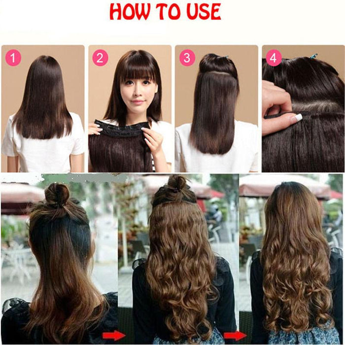 Snoilite 17242830 Long Curly Synthetic Clip In Hair Extensions