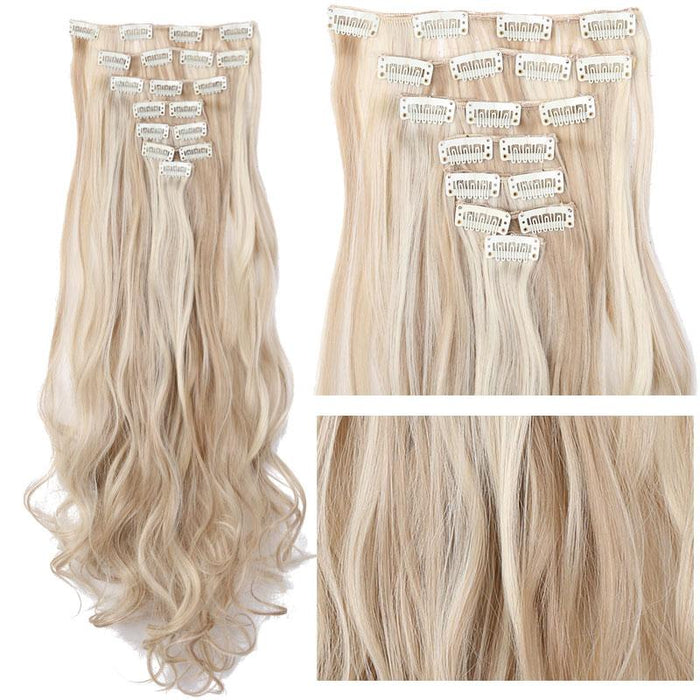 Snoilite 24inch 170g Curly 18 Clips In Hair Extensions False Hair