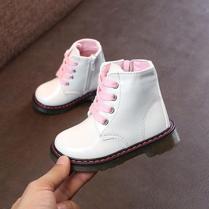 Snow Boots Childrens Winte/Autumn Ankle Boy/Girl Boots Unisex Pu Leather Shoes For Kids Snow Shoes-Boots-Baby Shoe World Store-picture color-5.5-EpicWorldStore.com