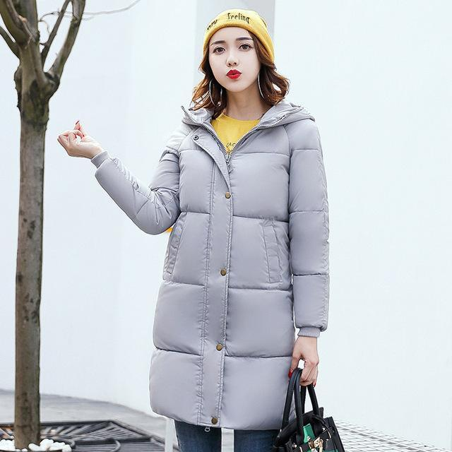 9a12672a5 Snow Pinnacle Winter Jacket Women Mid-Long Warm Hooded Fur Pocket Cotton  Padded Parkas Sweat Girls