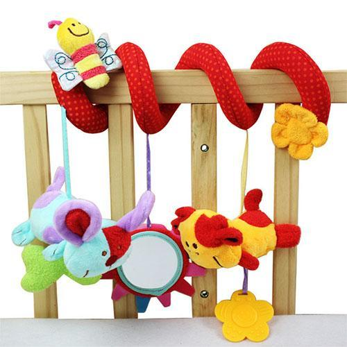 Soft Infant Crib Bed Stroller Toy Spiral Baby Toys For Newborns Car Seat Hanging Educational