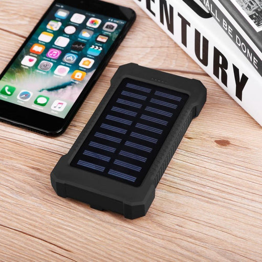 Solar Power Bank 30000Mah Portable Waterproof Solar Charger Powerbank 30000 Mah Dual Usb External-Power Bank-RACHEL7 Store-Black-EpicWorldStore.com