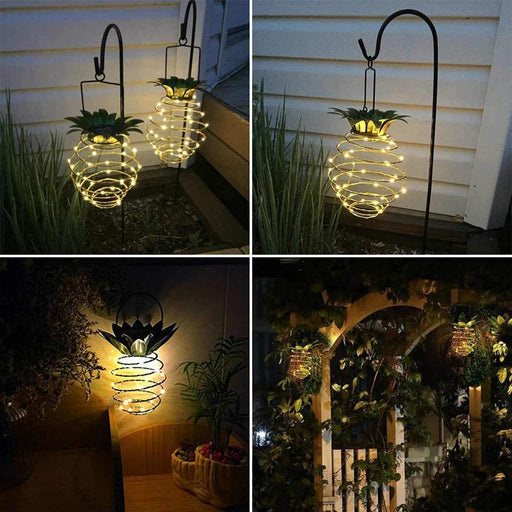 Solar Powered Led Lights Garden Yard Home Pineapple Lawn Lamp Ornament Outdoor Decor Sculpture-Garden Statues & Sculptures-SVKitchen Store-EpicWorldStore.com