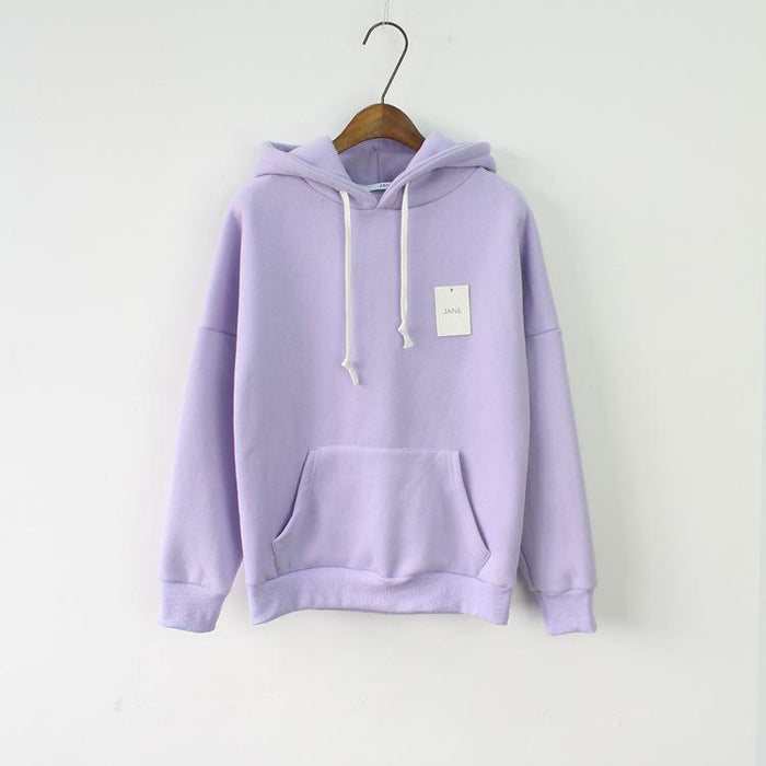 Solid Hooded Hoodies For Women Hot Sale Korean Pocket Casual Fitness Pullovers Leisure-Hoodies & Sweatshirts-RoseMerry *-light blue-EpicWorldStore.com