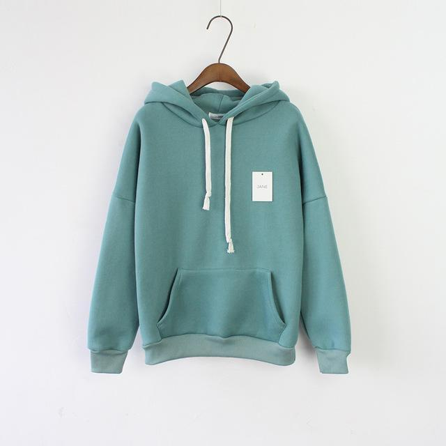 Solid Hooded Hoodies For Women Hot Sale Korean Pocket Casual Fitness Pullovers Leisure-Hoodies & Sweatshirts-RoseMerry *-Pea green-EpicWorldStore.com