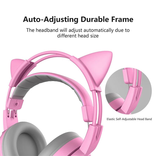 Somic G951S Ps4 Pink Cat Ear Noise Cancelling Headphones 3.5Mm Plug Girl Kids Gaming Headset With-Phone Earphones & Headphones-Headphone World Store-without retail box-EpicWorldStore.com