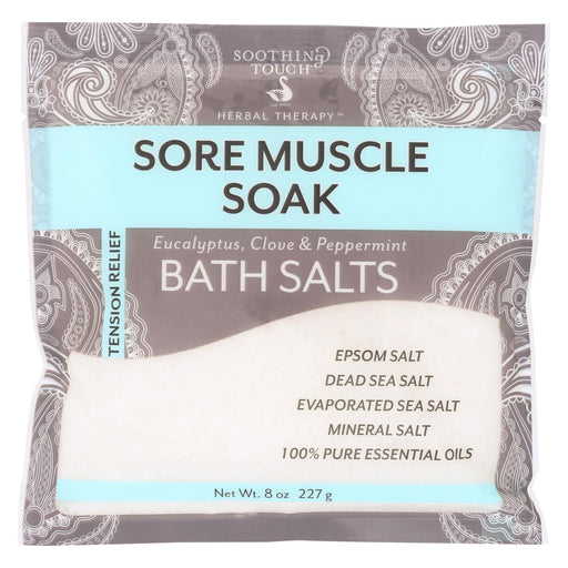 Soothing Touch Bath Salts - Muscle Soak - Case Of 6 - 8 Oz-Eco-Friendly Home & Grocery-Soothing Touch-EpicWorldStore.com