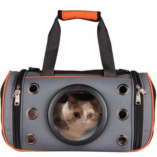 Space Capsule Astronaut Pet Cat Backpack Bubble Window For Kitty Puppy Chihuahua Carrier Crate-Carriers & Strollers-Little Girl's World Store-Fluorescent green M-EpicWorldStore.com