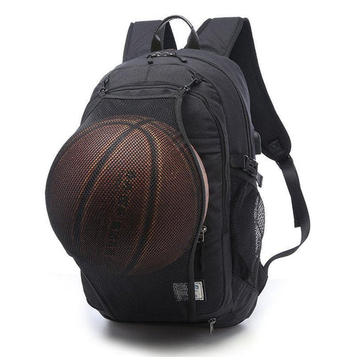 Sport Backpack Men Basketball Backpack School Bag For Teenager Boys Soccer Ball Pack Laptop Bag-Sport Bags-He Zong Outdoor Store-Light Grey-EpicWorldStore.com