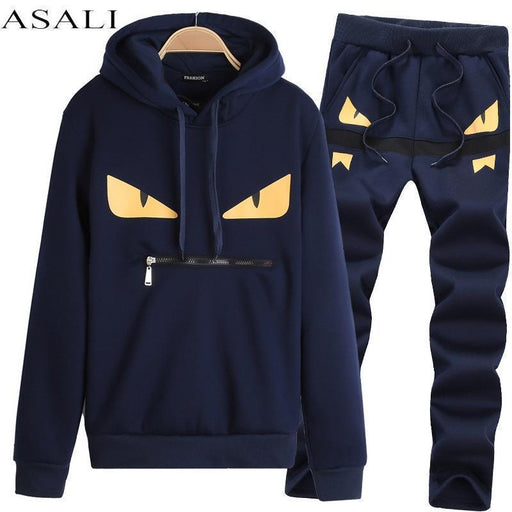 Sportsuit Tracksuit Sweat Suit Sweatshirt Men Set Jogger Suits For Men Skateboard Chandal-Men's Sets-KYKU essentials Store-8865 Navy Blue-XS-EpicWorldStore.com